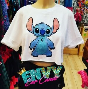 Lilo and stitch Stitch crop shirt